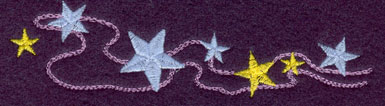 Embroidery Design: String of Stars Small5.13w X 1.23h