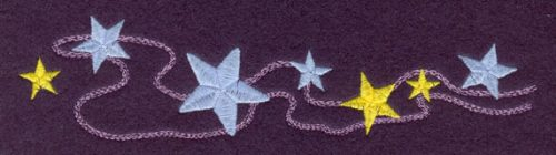 Embroidery Design: String of Stars Large7.50w X 1.80h