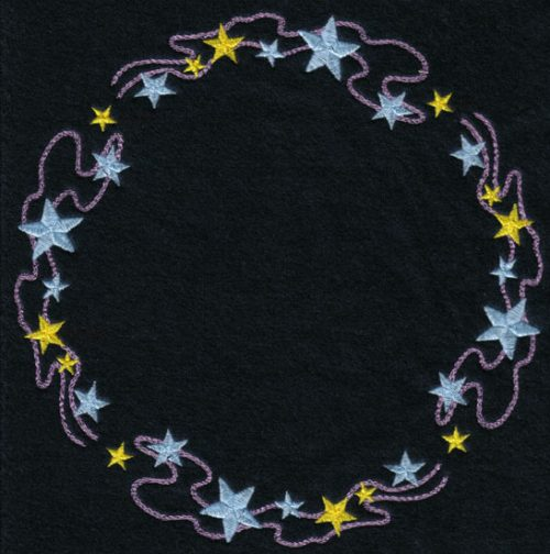 Embroidery Design: String of Stars Circle7.42w X 7.40h