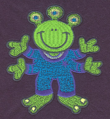 Embroidery Design: Alien Large4.44w X 5.01h