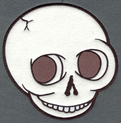 Embroidery Design: Skull Large Applique6.09w X 6.07h