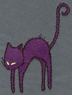Embroidery Design: Cat Large Single4.53w x 5.79h