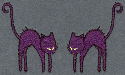 Embroidery Design: Cats Facing Each Other6.49w X 3.86h