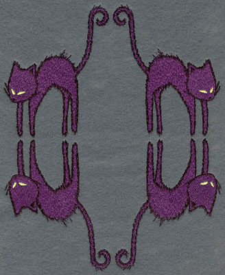 Embroidery Design: Cats Four Tail to Tail5.92w X 7.44h