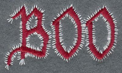 Embroidery Design: Boo2.56w X 1.53h