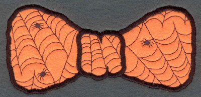 Embroidery Design: Bow Tie Large Applique with Spider Webs5.87w X 2.88h