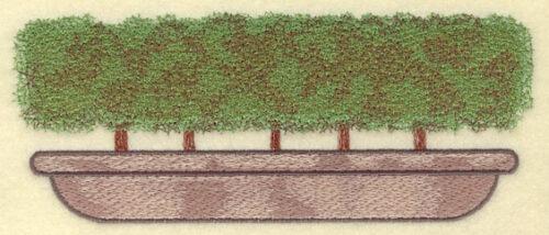 Embroidery Design: Bush Square Large7.50w X 3.03h