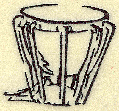 Embroidery Design: Kettle Drum small 3.86w x 3.53h