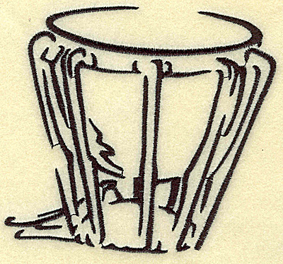 Embroidery Design: Kettle Drum large 4.95w X 4.52h