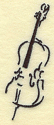 Embroidery Design: Cello small 1.53w X 3.89h