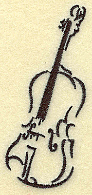 Embroidery Design: Violin small 1.70w X 3.89h