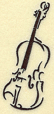 Embroidery Design: Violin large 2.18w X 4.97h