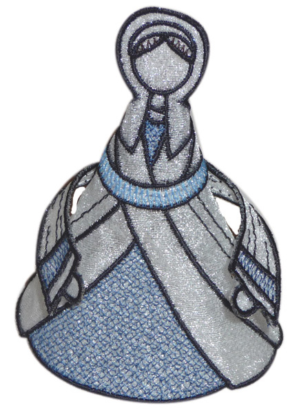 Embroidery Design: Mary 5.54w X 4.05h