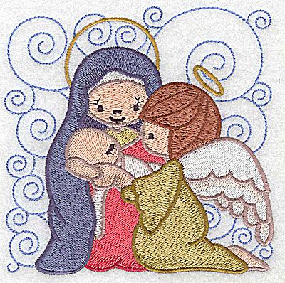 Embroidery Design: Nativity scene 1 large  4.94w X 4.94h