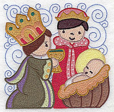 Embroidery Design: Nativity scene 2 large 4.92w X 4.90h