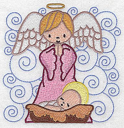 Embroidery Design: Nativity scene 4 large 4.83w X 4.96h