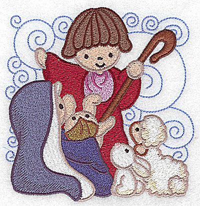 Embroidery Design: Nativity scene 6 large 4.82w X 4.93h