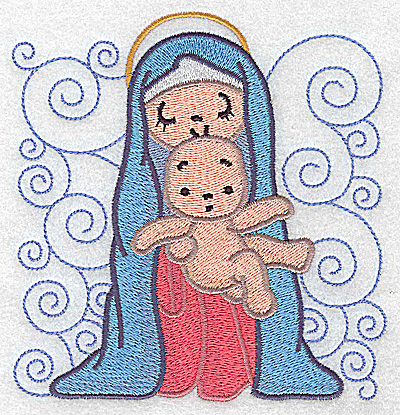 Embroidery Design: Nativity scene 7 large 4.77w X 4.96h