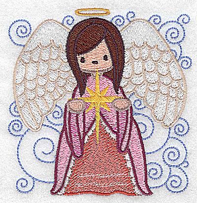 Embroidery Design: Nativity scene 9 small angel 3.79w X 3.89h