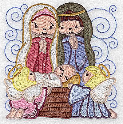 Embroidery Design: Nativity scene 10 large 4.80w X 4.93h