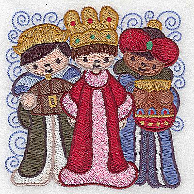 Embroidery Design: Nativity scene 11 small wise men 3.86w X 3.86h