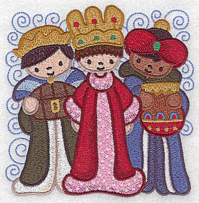 Embroidery Design: Nativity scene 11 large wise men 4.84w X 4.93h
