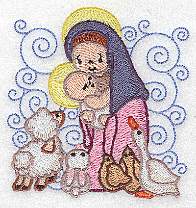 Embroidery Design: Nativity scene 12 small 3.71w X 3.86h