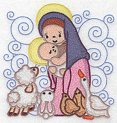 Embroidery Design: Nativity scene 12 large 4.74w X 4.94h