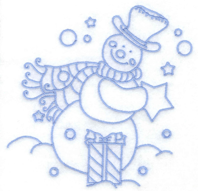 Embroidery Design: Snowman with gifts medium 4.88w X 4.93h