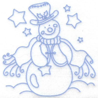 Embroidery Design: Snowman in vest large 6.32w X 6.44h