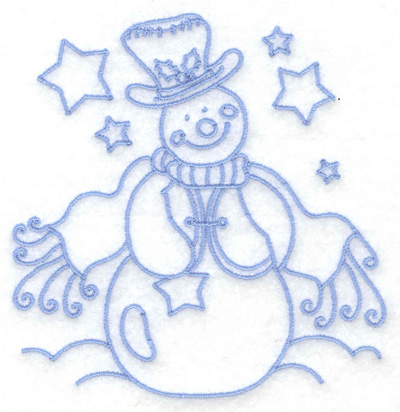 Embroidery Design: Snowman in vest small 3.79w X 3.86h