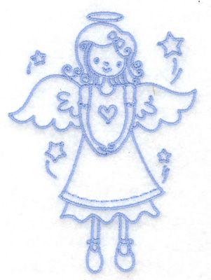 Embroidery Design: Angel with heart small 2.79w X 3.88h