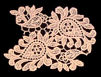 """Embroidery Design: Vintage Lace Edition 6 Vol.3 AINL01C  3.81""""w X 2.85""""h"""