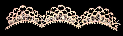 "Embroidery Design: Vintage Lace Edition 6 Vol.6 AINL08B  10.17""w X 2.34""h"