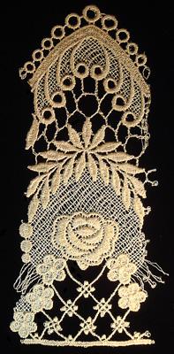 "Embroidery Design: Vintage Lace Edition 6 Vol.2 AINL15A  4.23""w X 8.66""h"