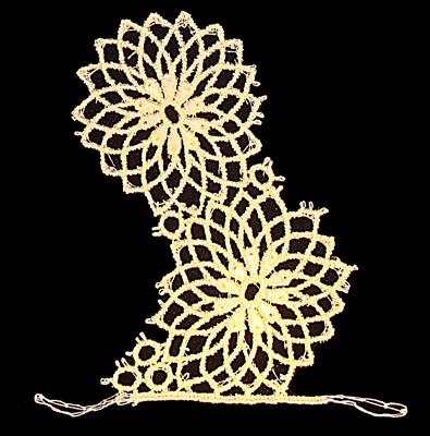 "Embroidery Design: Vintage Lace Edition 6 Vol.1 AINL17A  4.43""w X 4.49""h"