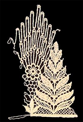 "Embroidery Design: Vintage Lace Edition 5 Vol.3 AINL27A  3.40""w X 5.42""h"