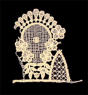 "Embroidery Design: Vintage Lace Edition 6 Vol.6 AINL28A  3.40""w X 3.55""h"