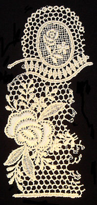 "Embroidery Design: Vintage Lace Edition 5 Vol.6 AINL30A  3.29""w X 6.59""h"