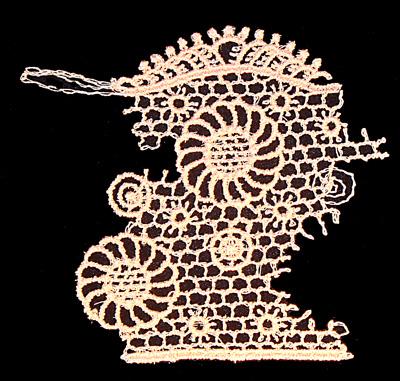 "Embroidery Design: Vintage Lace Edition 5 Vol.6 AINL40A  3.87""w X 3.65""h"
