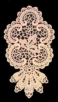 "Embroidery Design: Vintage Lace Edition 5 Vol.4 AINL44A  3.14""w X 6.11""h"