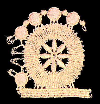 "Embroidery Design: Vintage Lace Edition 5 Vol.4 AINL45A  2.77""w X 2.91""h"