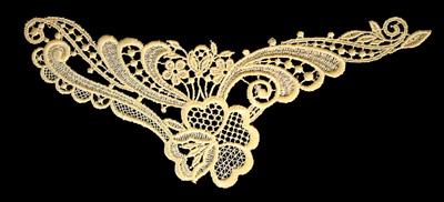 "Embroidery Design: Vintage Lace Edition 6 Vol.6 AINL49A  8.90""w X 3.96""h"
