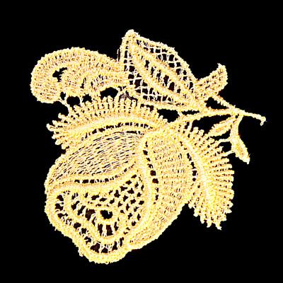 "Embroidery Design: Vintage Lace Edition 5 Vol.6 AINL56A  2.75""w X 2.57""h"