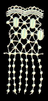 "Embroidery Design: Vintage Lace Edition 6 Vol.2 AINL63A  2.61""w X 5.53""h"