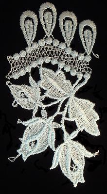 "Embroidery Design: Vintage Lace Edition 5 Vol.5 AINL66A  3.85""w X 7.17""h"
