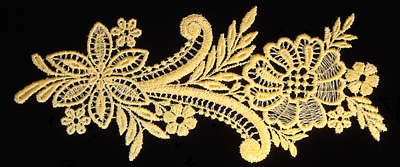 "Embroidery Design: Vintage Lace Edition 5 Vol.5 AINL75A  8.18""w X 3.64""h"