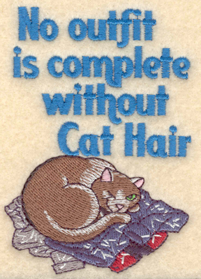 Embroidery Design: Cat hair2.71w X 3.89h