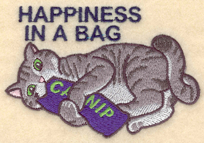 Embroidery Design: Happiness in a bag3.90w X 2.66h
