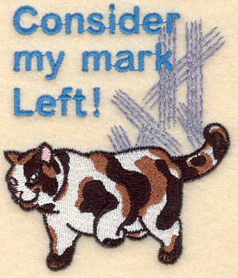 Embroidery Design: Consider my mark left3.31w X 3.90h